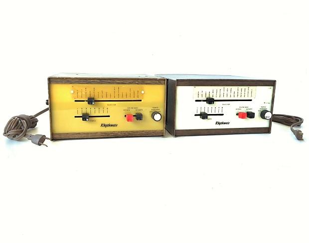 2x CHAMBERLIN RHYTHMATE MODEL 50 Tape Loop Drum Beat Machines mellotron