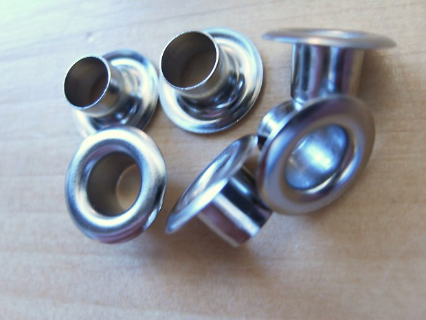 Harmony kay silvertone bright nickel tuner bushings