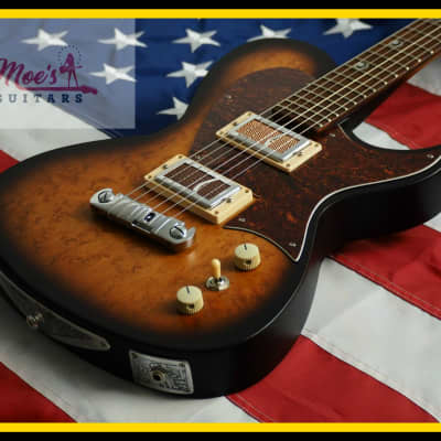 Harden Engineering Switchblade M Series 2019 Tea Burst Hand Made by Bill Harden for sale