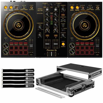 Pioneer Limited Edition DDJ-400 2-Chan rekordbox DJ Controller Gold, Flight Case