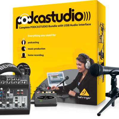 Behringer Complete Podcast Equipment Bundle with USB Audio Interface