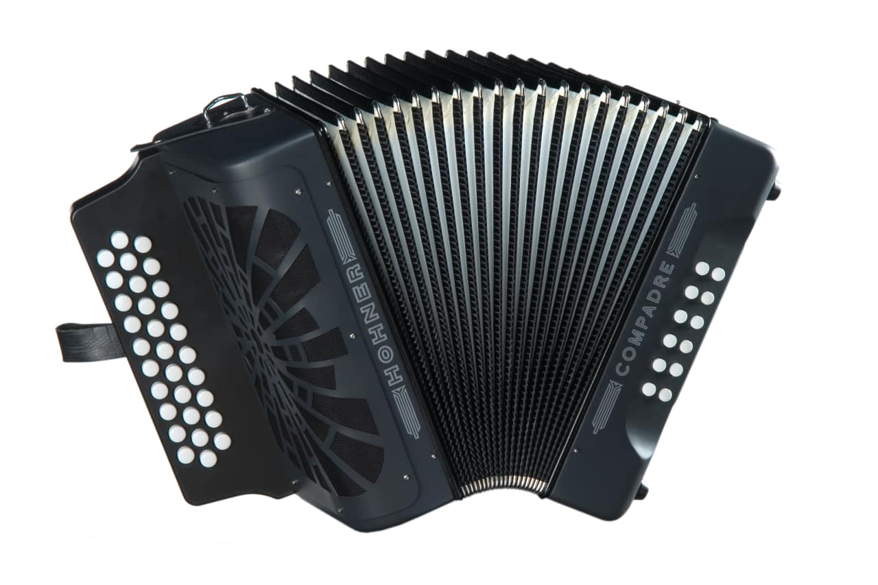 hohner compadre acordeon fbe black diatonico accordion fbbeb reverb. Black Bedroom Furniture Sets. Home Design Ideas