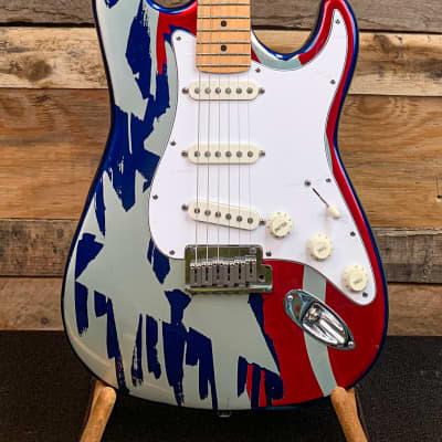 Fender 40th Anniversary Stratocaster Aluminum Stars & Stripes 1994 for sale