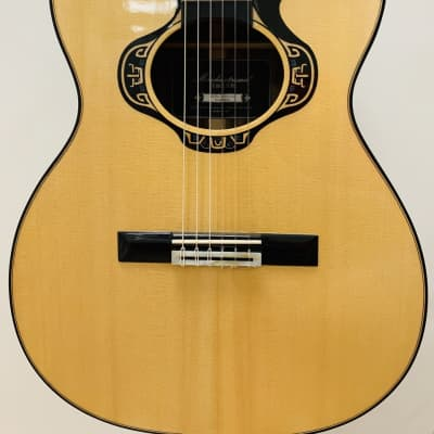 Merida Overstep solid spruce, ovangkol acoustic-electric OM body Classical Guitar for sale