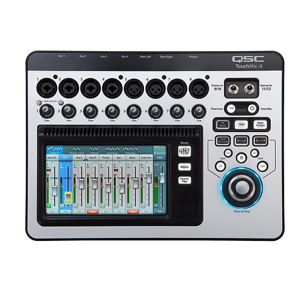 qsc touchmix 8 compact digital mixer used zzounds reverb. Black Bedroom Furniture Sets. Home Design Ideas