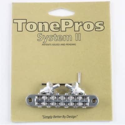 TONEPROS PONTE STANDARD TUNE-O-MATIC SMALL INSERTS CHROME