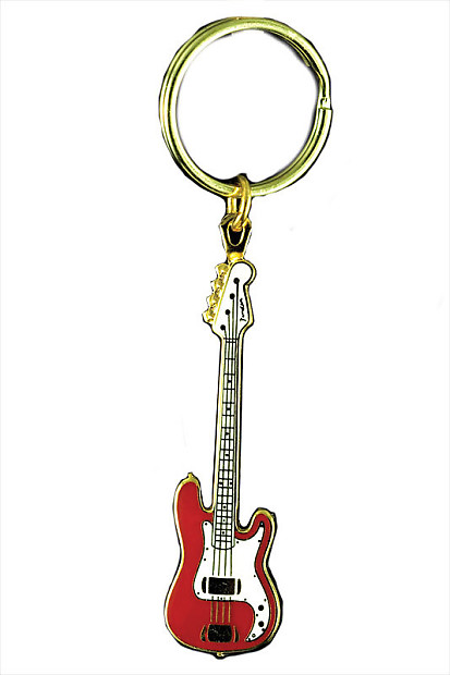 Harmony Jewelry Fender P Bass Electric Guitar Keychain Red Reverb