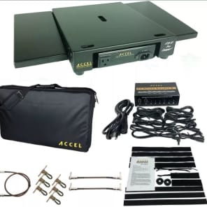 Accel XTA10 Pedal Board with 2 Extensions, PS 8 Isolated Power Supply + Cable Pack Bundle. Nice!