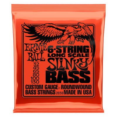 Ernie Ball 2838 Slinky Long Scale 6-String Nickel Wound Electric Bass Strings