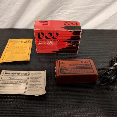 DOD Regulated Power Supply 200 1980s Red Pedal Power Vintage in Original Box Made in USA for sale