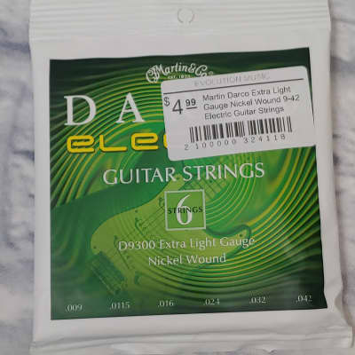 Martin Darco Extra Light Gauge Nickel Wound 9-42 Electric Guitar Strings
