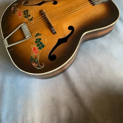 1940's Del Oro Archtop Acoustic w/Dice & 4 Leaf Clovers  RARE !! for sale