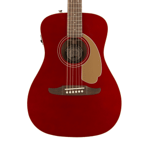 Fender Malibu Player Acoustic-Electric Guitar - Candy Apple Red for sale