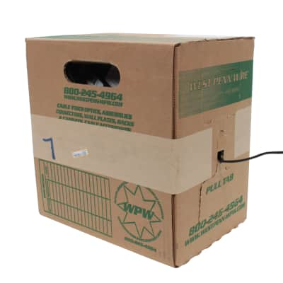 West Penn 291-WH 2 Cond 22 AWG Shielded CMR Rated White, 1000'