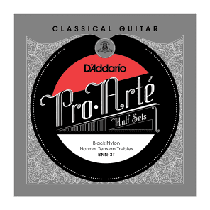 D'Addario BNN-3T Pro-Arte Black Nylon Classical Guitar Half Set Normal Tension