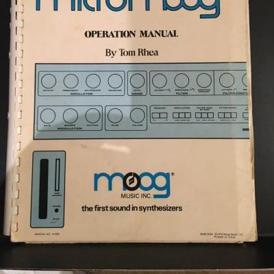 Moog Micromoog manual