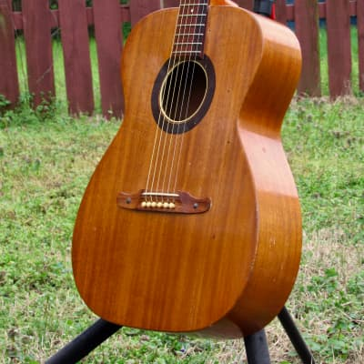 ~All Solid Mahogany~ 1971 Fender by Harmony F-1030 / H165 - Folk Player's Dream! w/ Pickup! USA! for sale
