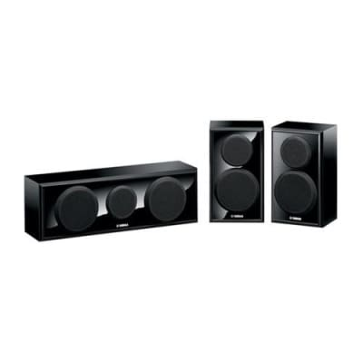 Yamaha NS-P150 Floor Standing Home Theater Speaker Package for HD Movies and Music - 1 Center and 2 Surround Speakers