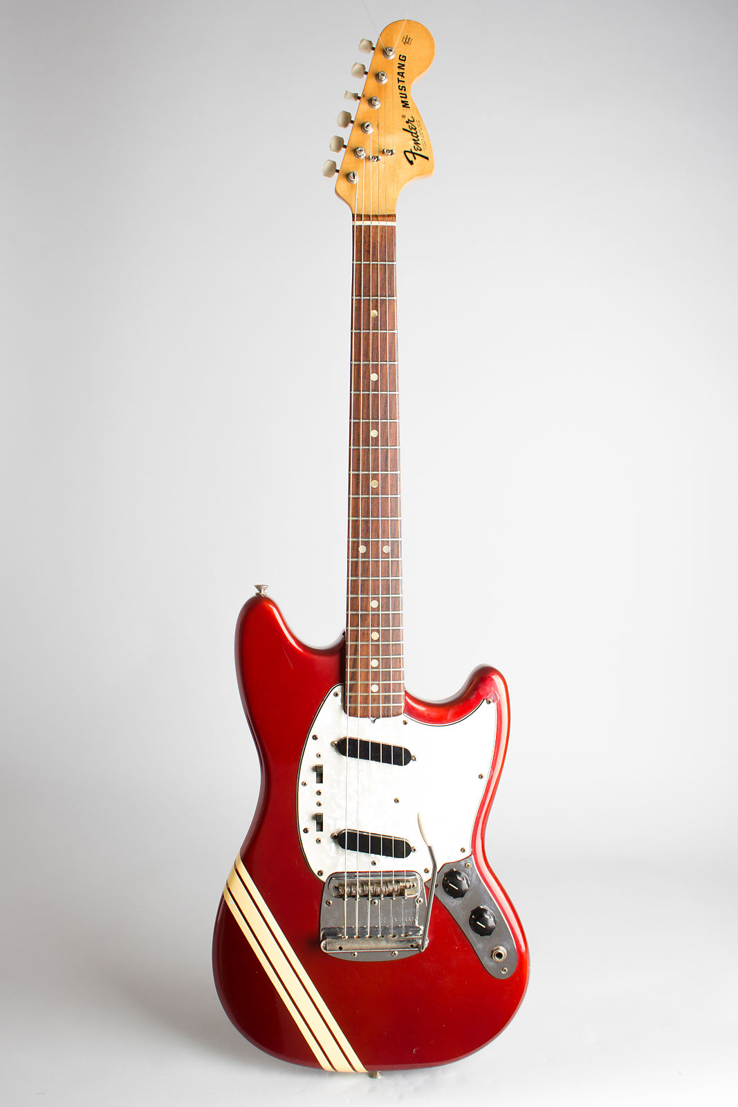 Fender  Competition Mustang Solid Body Electric Guitar (1973), ser. #436174, original grey hard shell case.