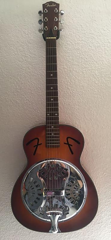 fender fr 50 resonator acoustic guitar sunburst reverb. Black Bedroom Furniture Sets. Home Design Ideas