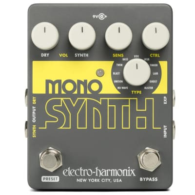 Electro-Harmonix Mono Synth Engine Guitar Multi Effect Pedal