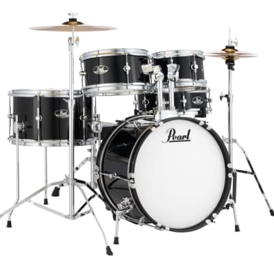 "Pearl RSJ465C Roadshow Jr. 8 / 10 / 13 / 16 / 12x4"" 5pc Drum Set with Hardware, Cymbals"