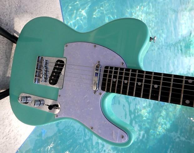 elite telecaster style guitar seafoam green reverb. Black Bedroom Furniture Sets. Home Design Ideas
