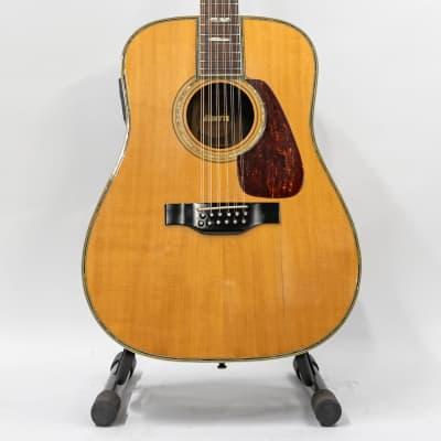 Morris MB80-12 E 12-String Acoustic Electric Guitar - Natural - Vintage for sale