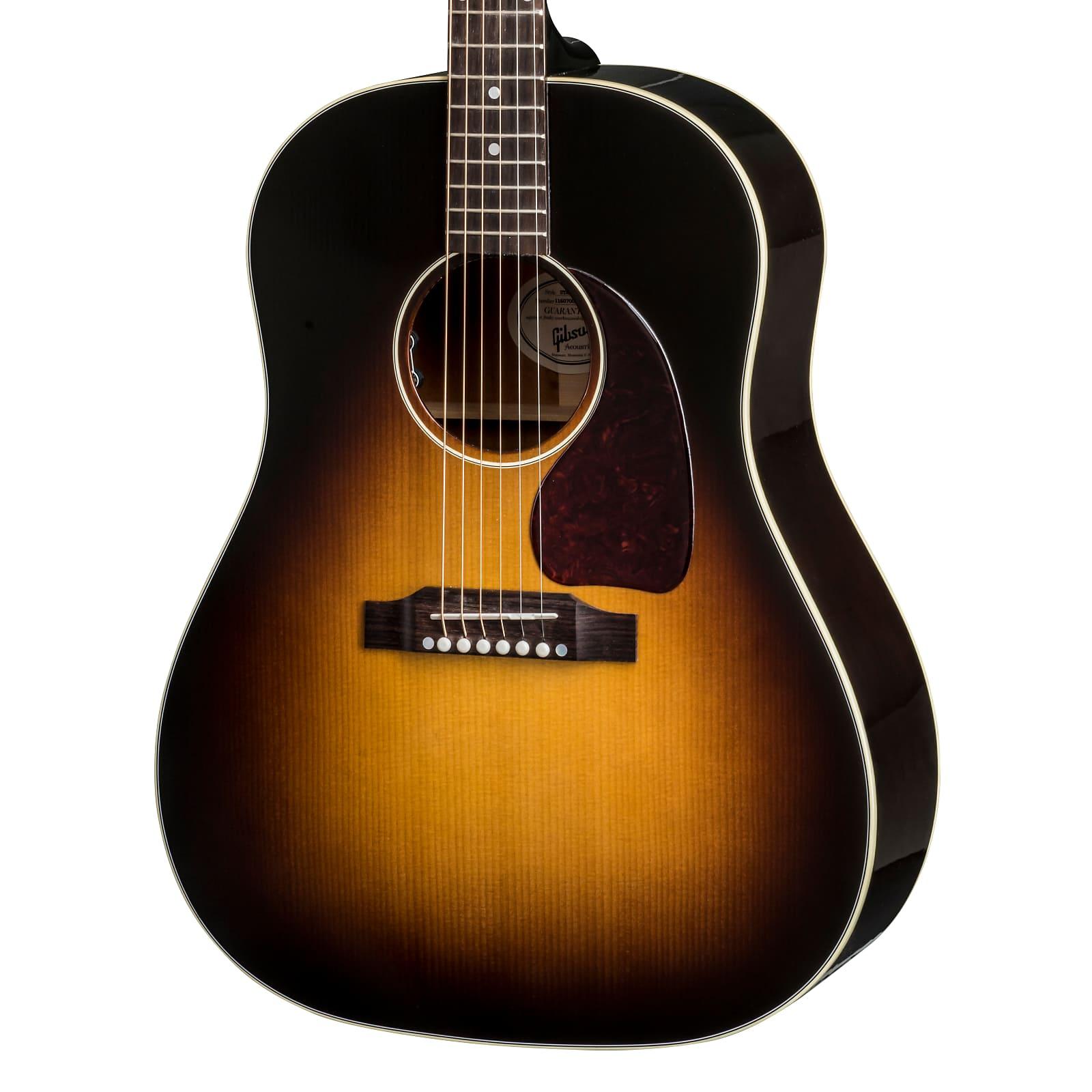 0de42abd523 Gibson J-45 Standard 2018 Acoustic-Electric Guitar (with Case), Vintage  Sunburst, Blemished