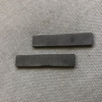 Two Roughcast Alnico II bar magnets, charged