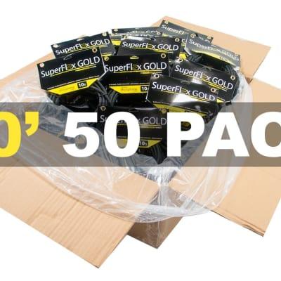 MASTER CASE of (50) SuperFlex GOLD SFM-10 Premium Microphone Cables 10'