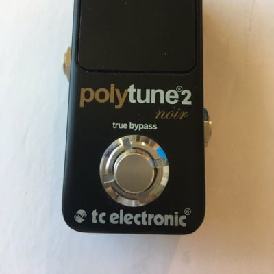 TC Electronic Polytune 2 Noir Mini Polyphonic Tuner Guitar Bass Effect Pedal