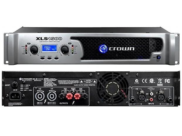 crown xls 1500 drivecore 1550w dj club stereo power amplifier reverb. Black Bedroom Furniture Sets. Home Design Ideas