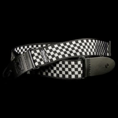 Dunlop D38-31BK Black and White Checker Guitar Strap