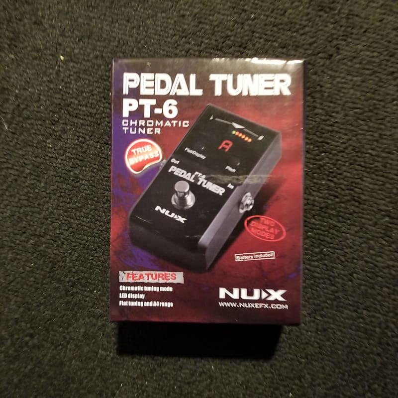 new nux pt 6 chromatic guitar bass pedal tuner reverb. Black Bedroom Furniture Sets. Home Design Ideas