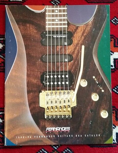 Fernandes Guitars USA Catalog 1995-96 | VintAxe