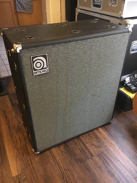 vintage 1970 39 s ampeg v4 4x12 speaker cabinet with reverb. Black Bedroom Furniture Sets. Home Design Ideas