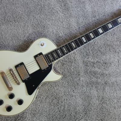 Vintage 1970s Hohner Single Cutaway MIJ Electric Guitar Hi Quality Rocker Hondo Aspen Cream for sale