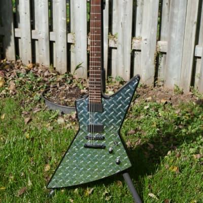 GrassRoots by ESP GMX-48 Diamond Plate Metallica James Hetfield Explorer EXP MX-250 Rare Sold out for sale