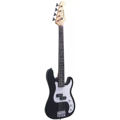 J. Reynolds JR9B 7/8 Size Electric Bass Guitar, Black for sale