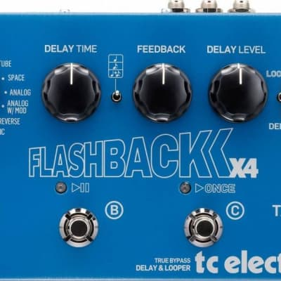 TC Electronic Flashback 2 X4 Delay / Looper Stompbox Pedal