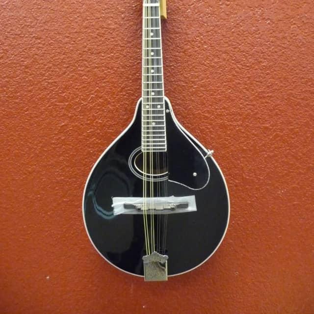 Oscar Schmidt OM12B Black, A Style Mandolin, Free Shipping to Lower USA image