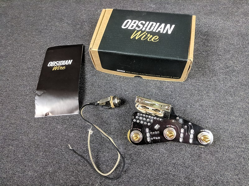 ObsidianWire Pro-Wired HSS Strat Solderless Wiring Harness Stratocaster on
