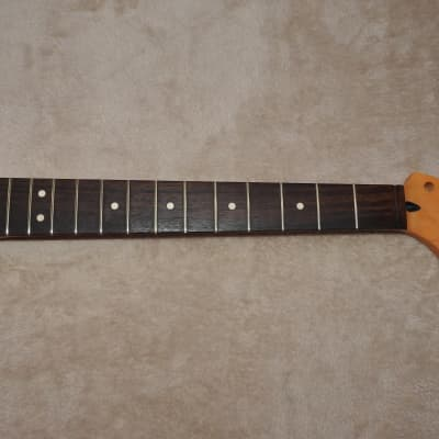 WD Music SRV21 Licensed Fender Rosewood on Maple Stratocaster Neck 21 Medium Jumbo Frets NOS #5