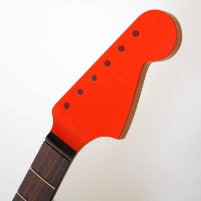 Allparts Jazzmaster Neck Dark Rosewood Fretboard Fiesta Red Headstock JZRO Never Installed for sale