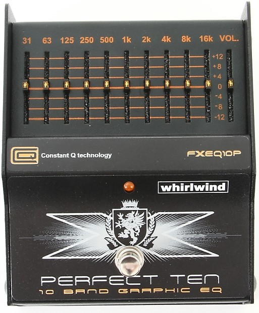 whirlwind perfect ten 10 band graphic eq pedal gearnuts reverb. Black Bedroom Furniture Sets. Home Design Ideas