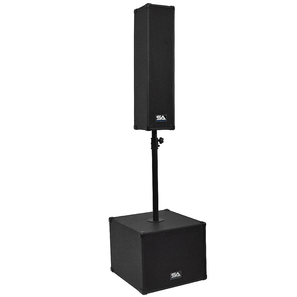 seismic audio sa cppa1 powered compact portable pa system w reverb. Black Bedroom Furniture Sets. Home Design Ideas