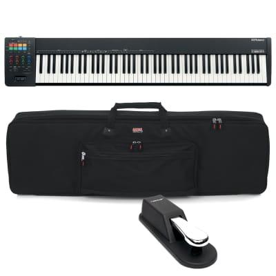 Roland A-88MKII MIDI Keyboard Controller, Gator GKB-88, Sustain Pedal Bundle