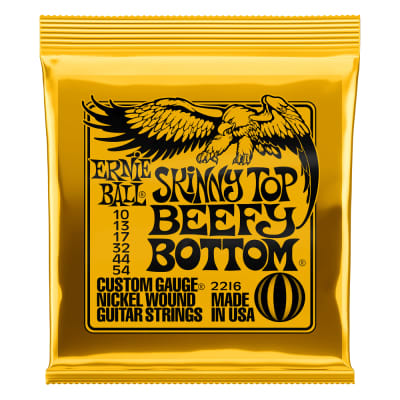 Ernie Ball Skinny Top Beefy Bottom Slinky Nickel Wound Electric Guitar Strings 10-54 (P02216)