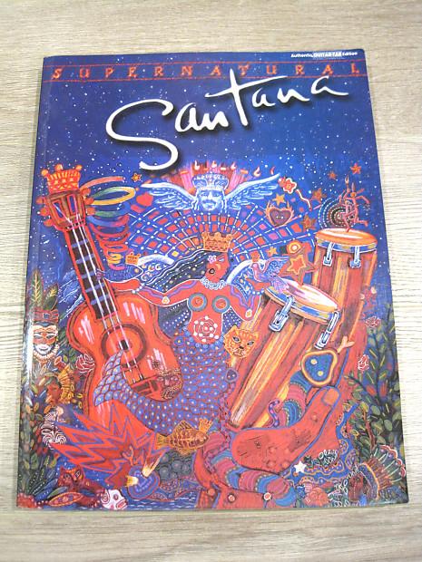 Santana Supernatural Sheet Music Song Book Guitar Tab Tablature by Warner  Bros